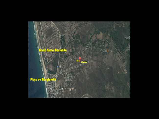 Lot for sale 1000m2, 5 minutes of Montanita-Montañita
