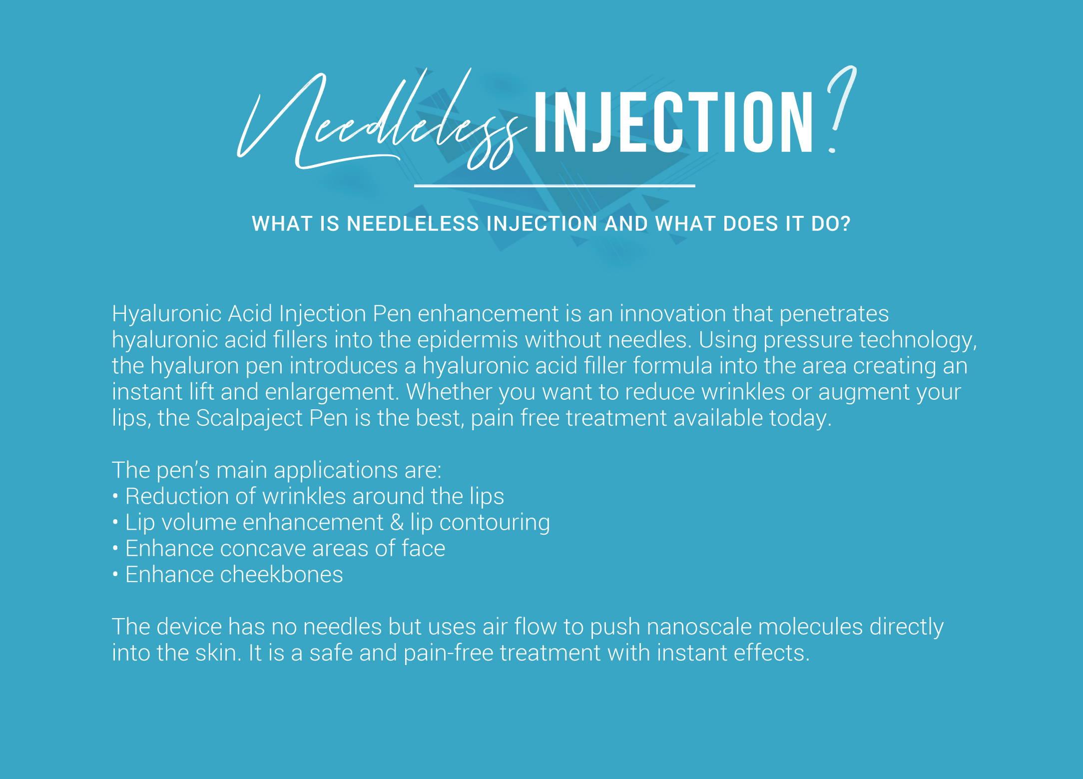 Hyaluron Pen Needleless Injection Training Scalpaject