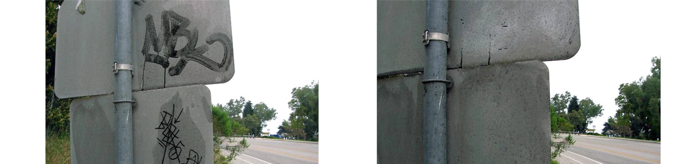 remove graffiti from street signs