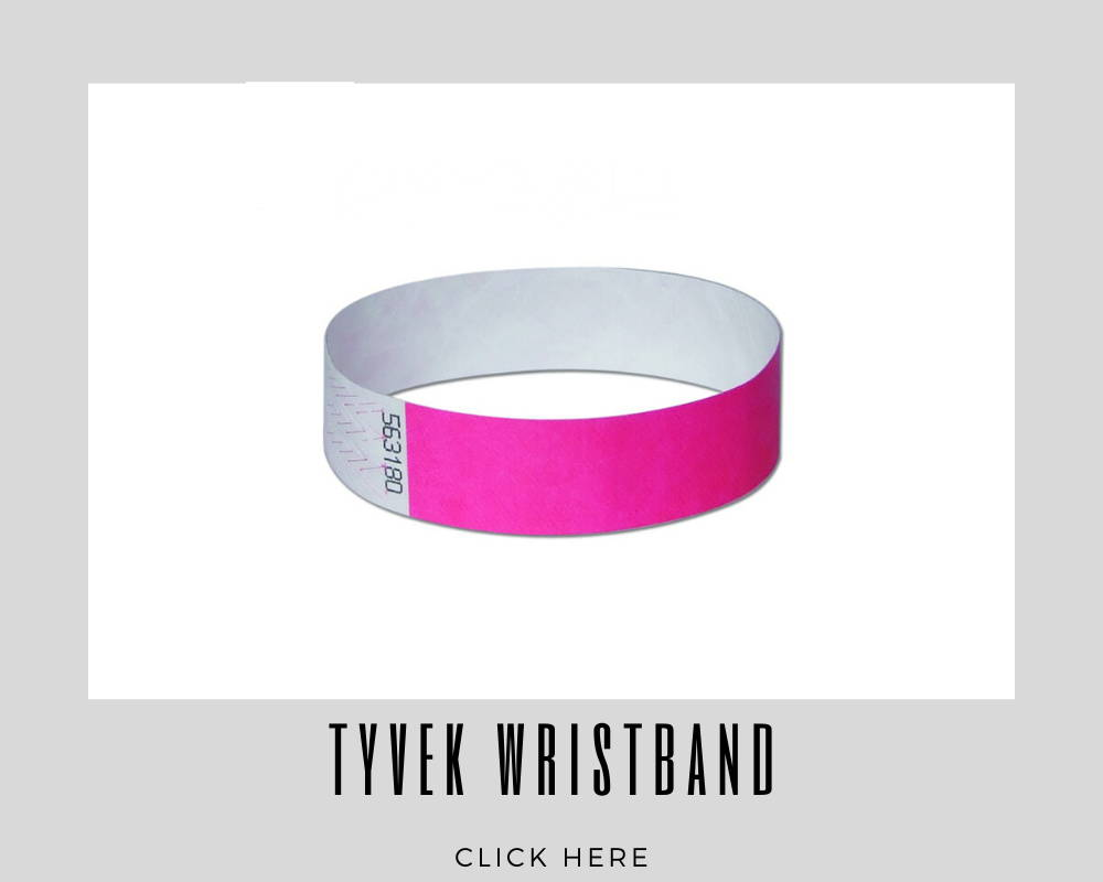 Giveaways Promotional Tyvek Wristbands