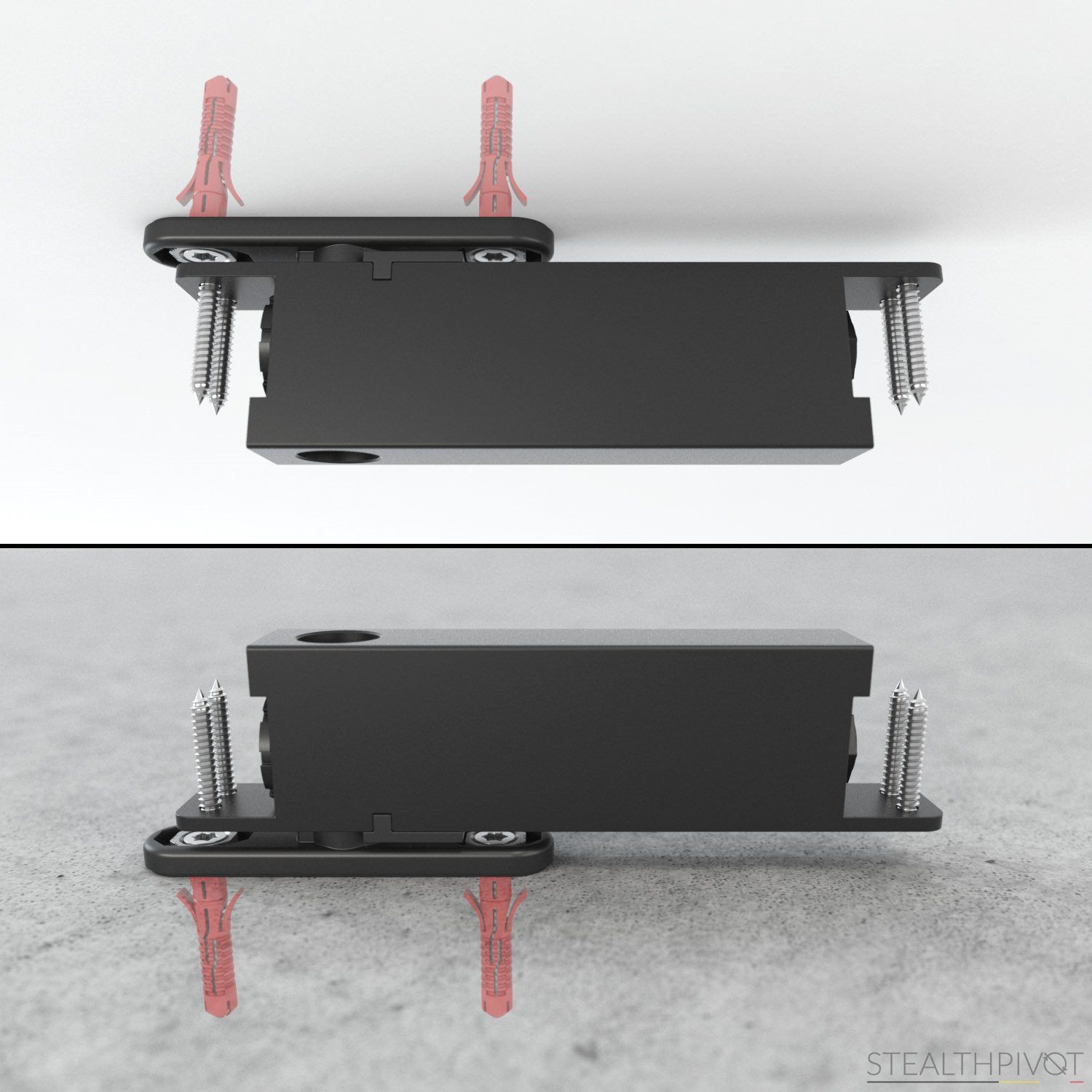 pivot hinge without any built-in parts