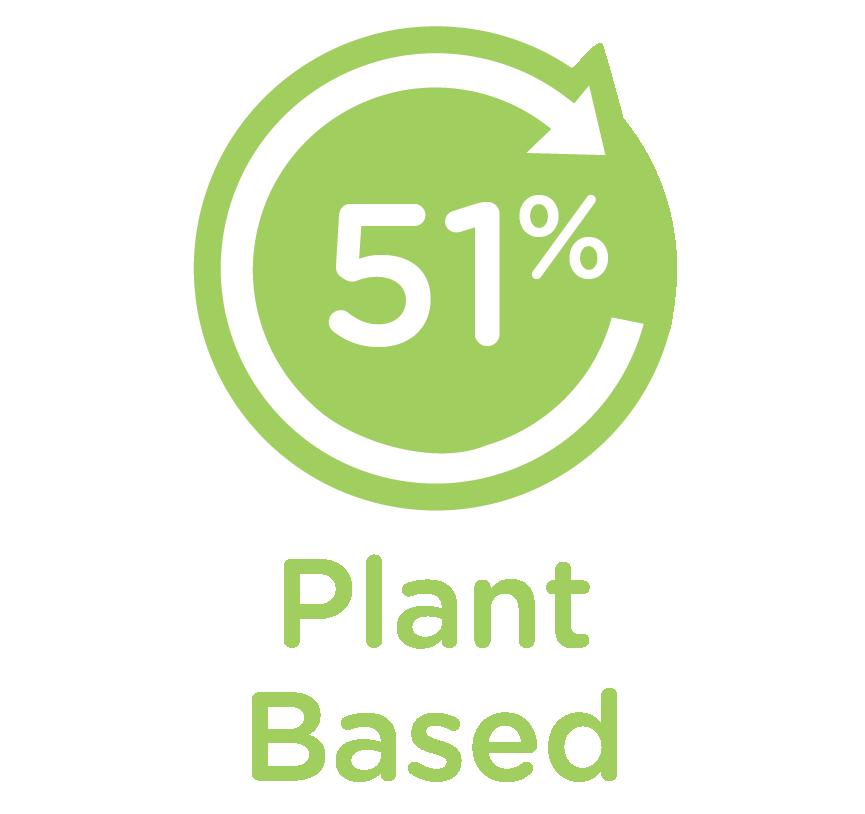 logo depicting plant based product