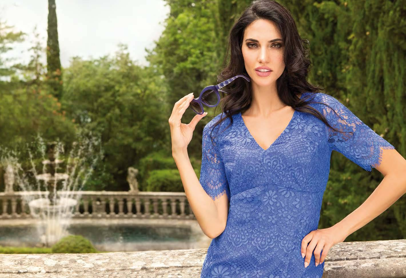 Michaela Louisa 8444 BLUE LACE DRESS