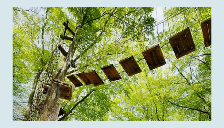 abenteuerpark potsdam blick zur hauptplattform