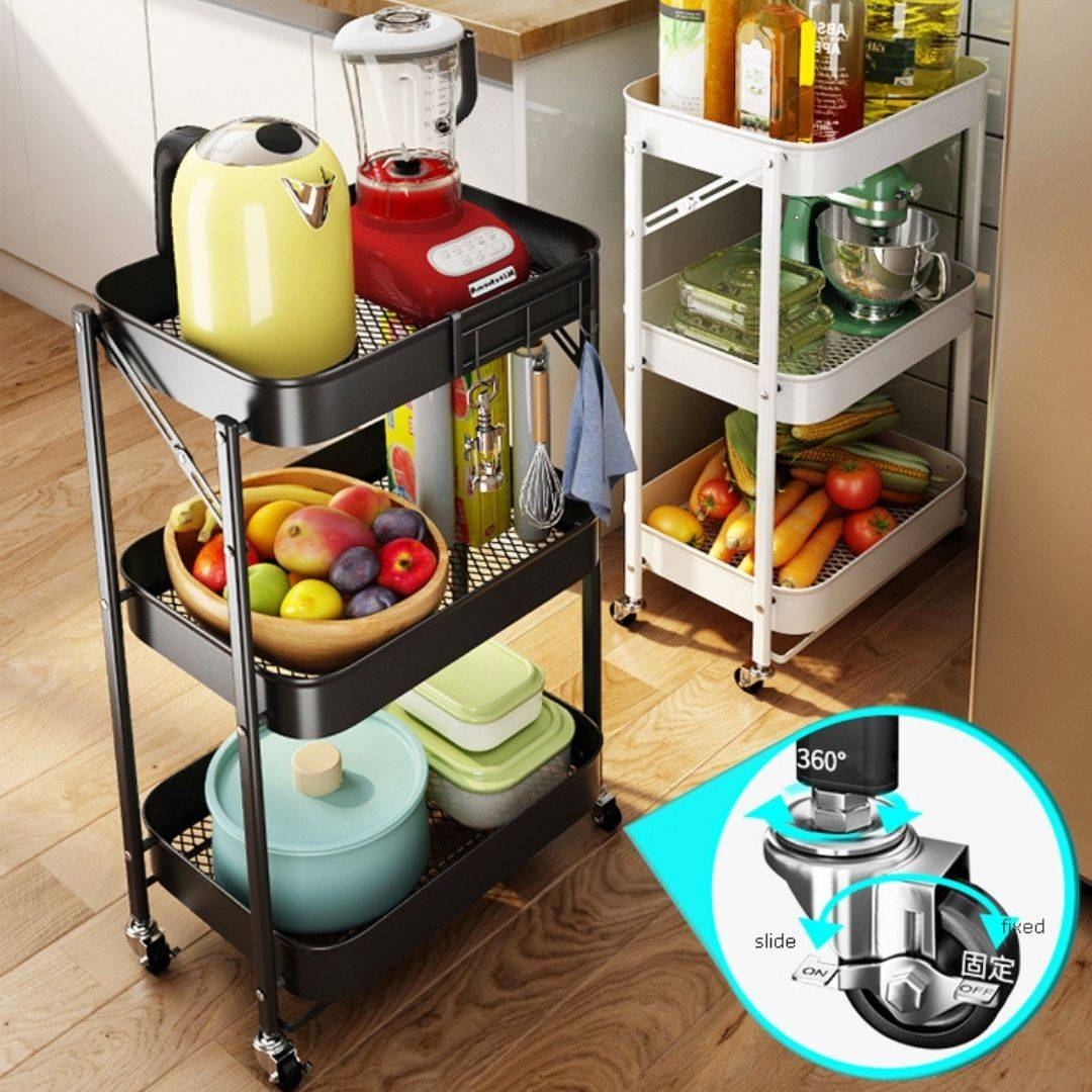 kitchen cart, utility cart, kitchen trolley, kitchen rolling cart