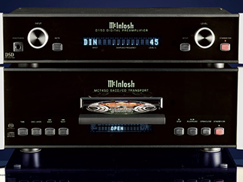 McIntosh MCT450 AND D150 digital preamplifier 2PC system of SACD/CD transport DAC/Preamp used 20 hours by professional AS GOOD AS NEW!
