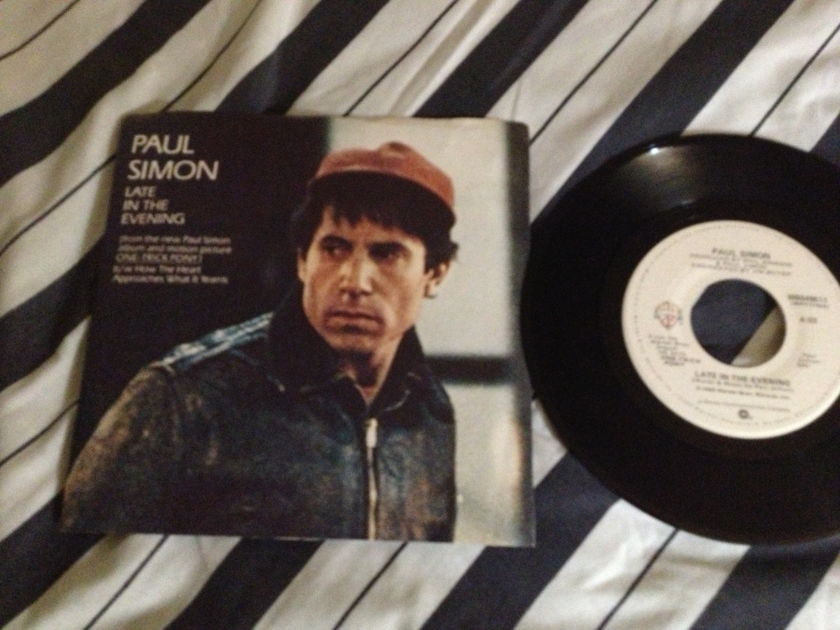 Paul Simon - Late In The Evening 45 With Picture Sleeve NM
