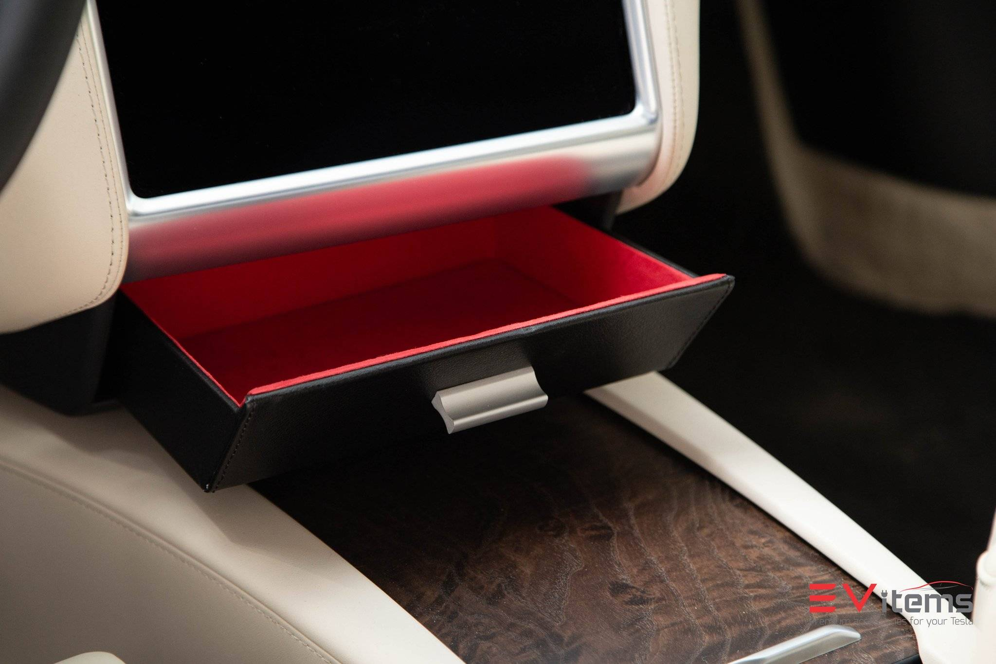 Tesla Model X Cubby Drawer, Tesla Model X Vegan Cubby Drawer, Tesla Model X Accessory