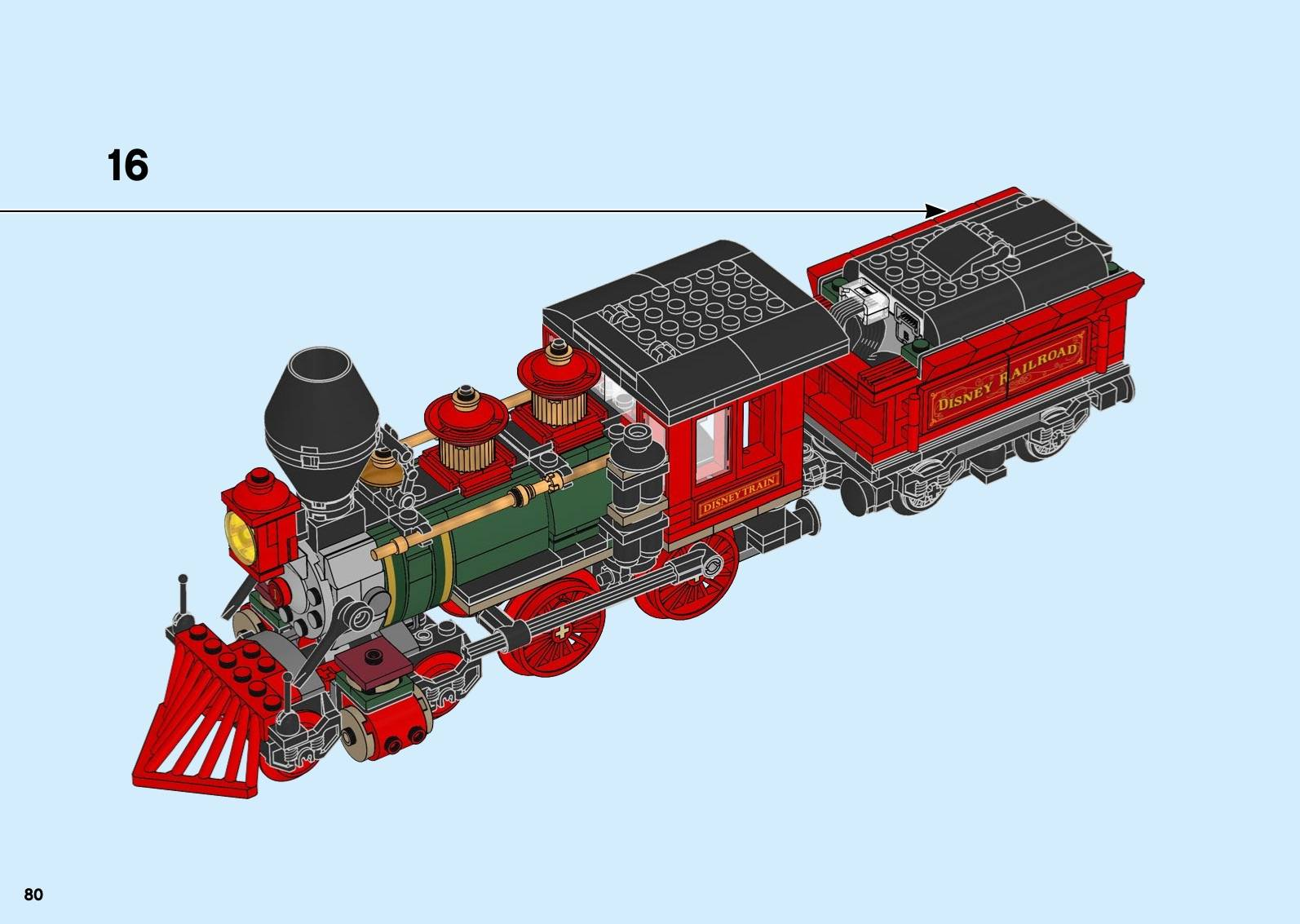 LEGO Disney Train And Station 71044 Instructions