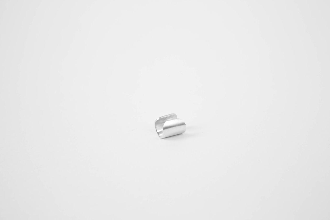 Матовый Кафф из серебра