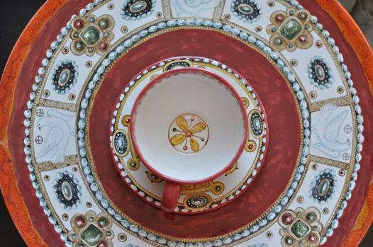 Комплект Праздничный блюдо и чайная пара