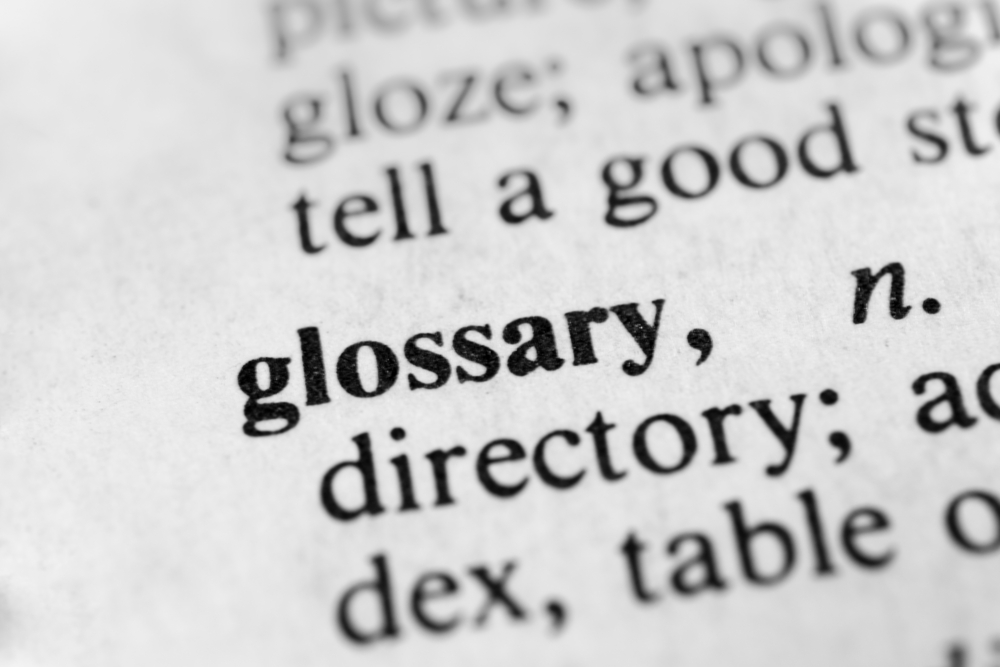 Glossary Corporate Terms Legal Definitions