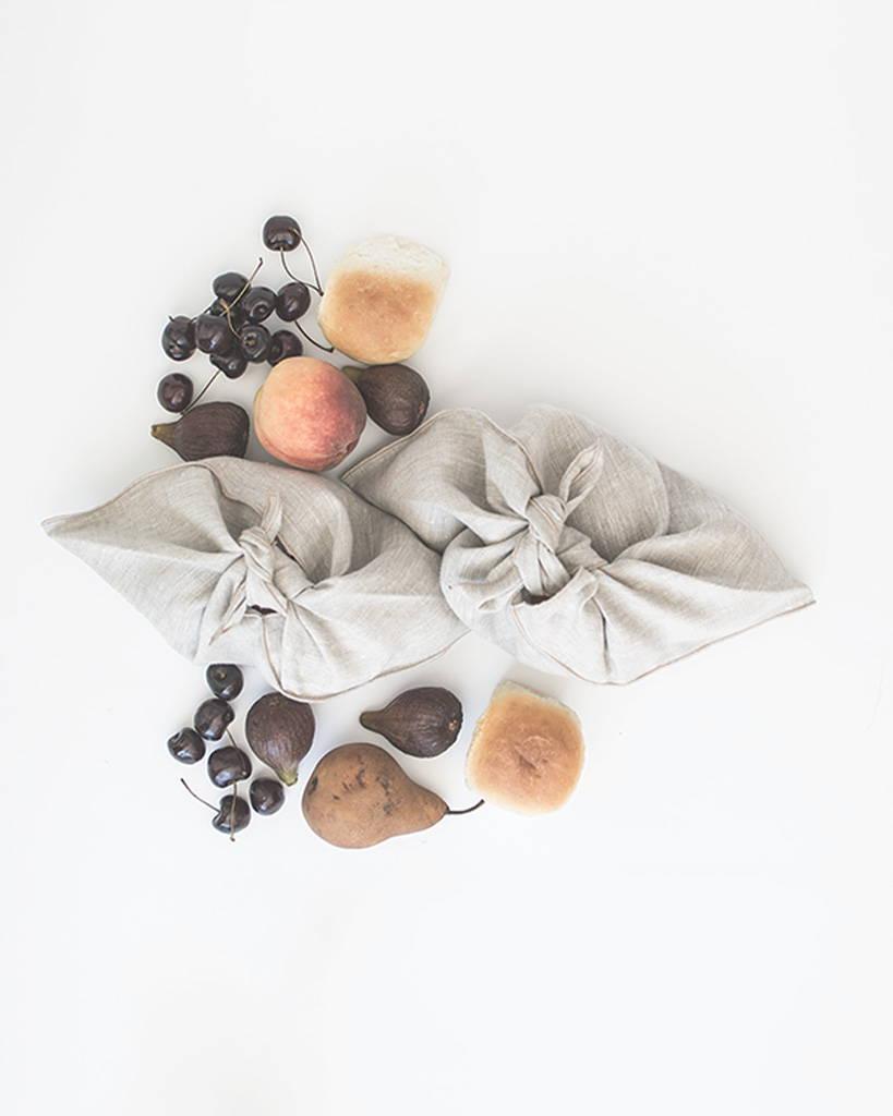 Natural Linen Market Pouch
