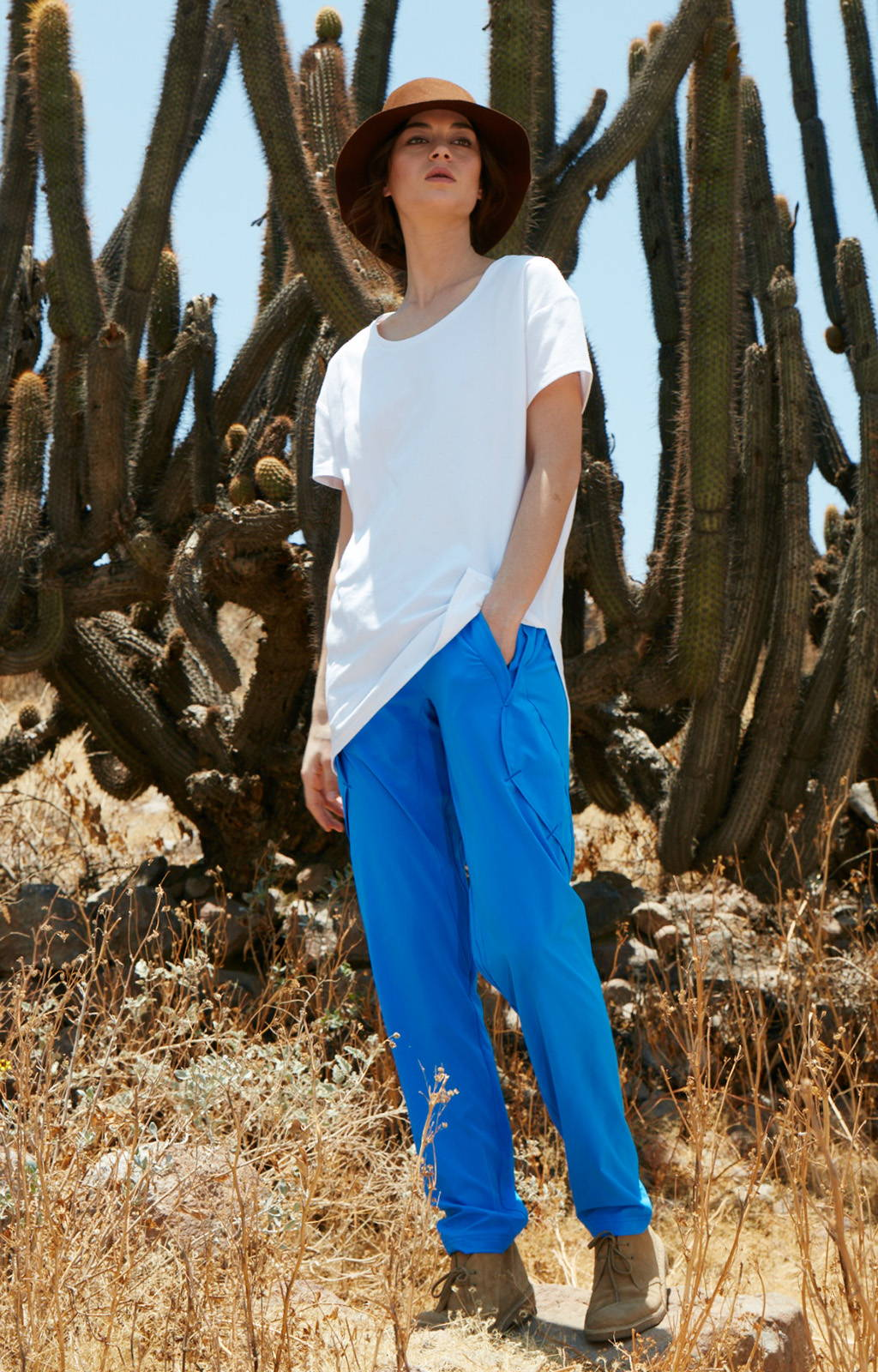 RESILIENCE - INDIA INSPIRED VOYAGER PANT BLUE