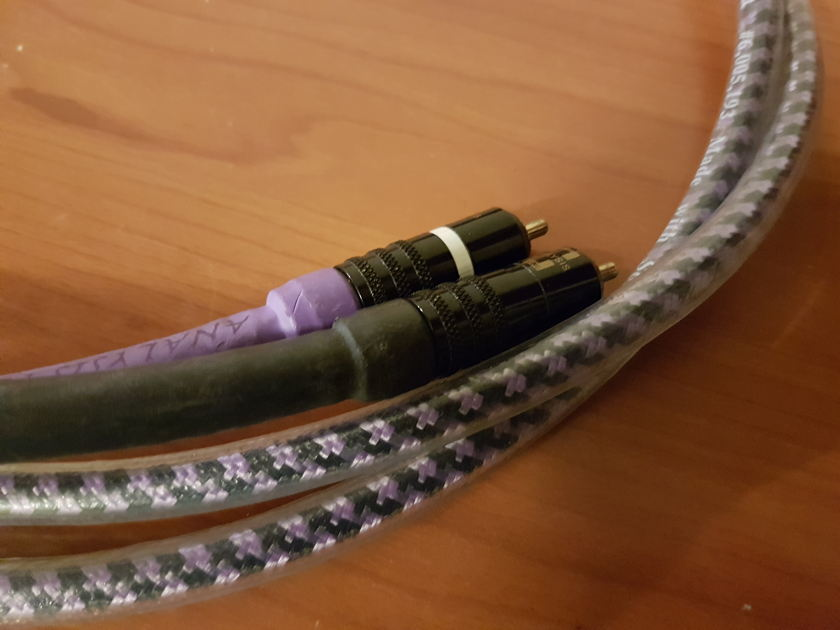 Analysis Plus Inc. Solo Crystal Oval Interconnect Cables. RCA. 1.5 Meters.
