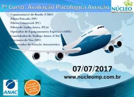Curso: Avaliação Psicológica para Pilotos e Comissários de Bordo