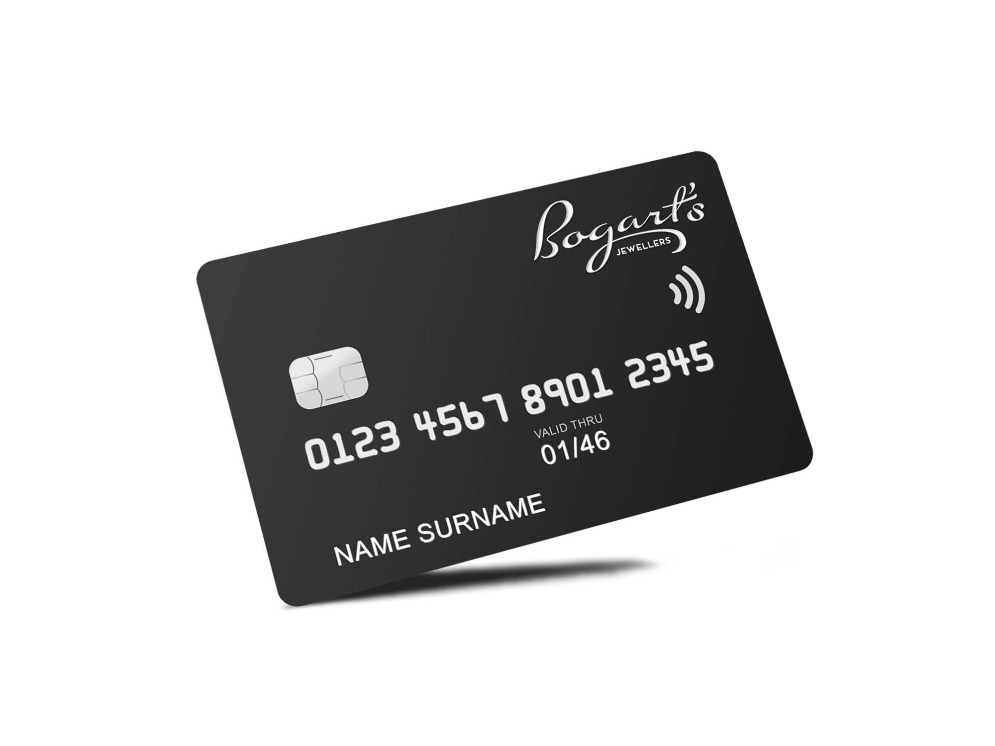 Bogart's virtual credit card for financing