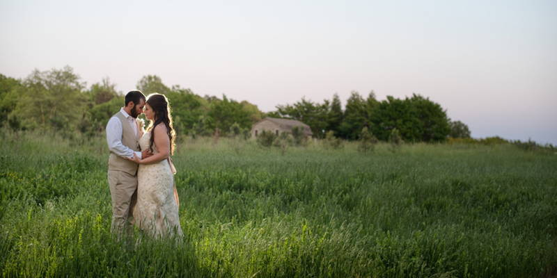 Grandfather marries couple in gorgeous outdoor wedding ceremony