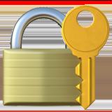 Lock key emoji