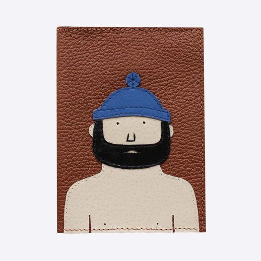 Обложка для паспорта Борода