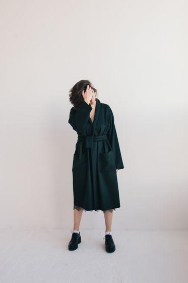 шерстяное весеннее пальто *арт - деко*