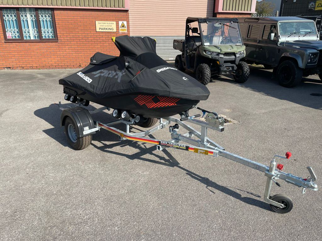 2021 SEA DOO SPARK TRIXX 2 UP WITH TRAILER AND COVER 's featured image