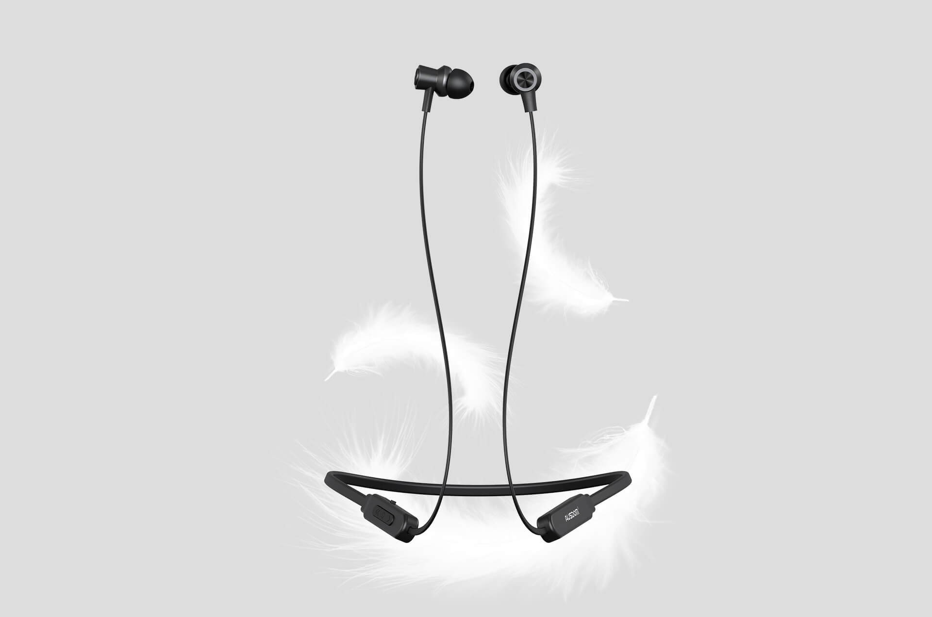 Ausdom S5 Sweatproof Wireless Sports Neckband Bluetooth Earphones
