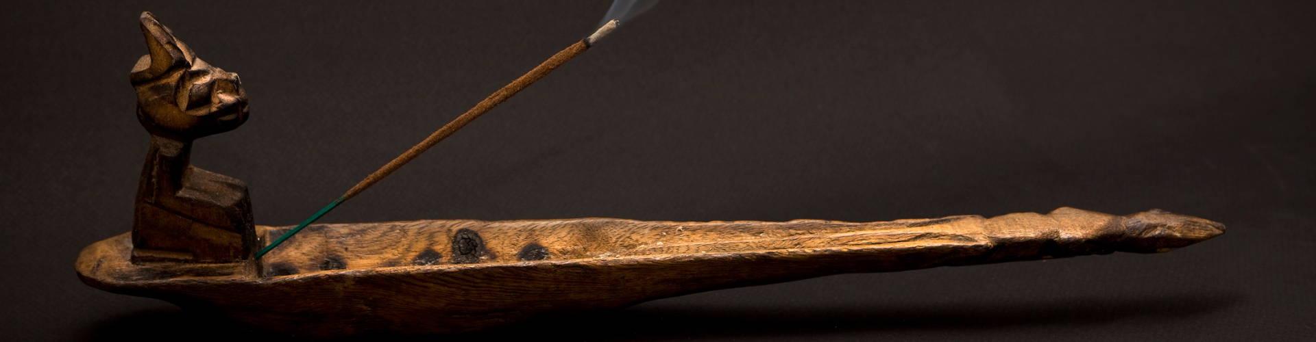 natural incense sticks burning