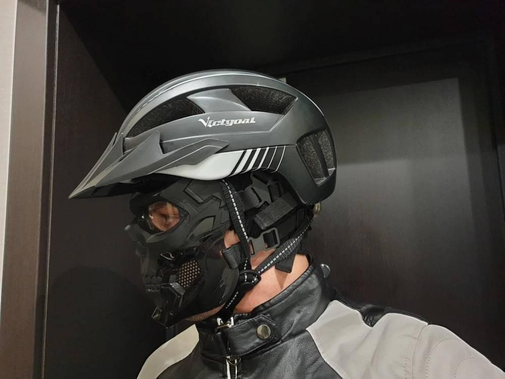 masque trottinette electrique cyborg equipement