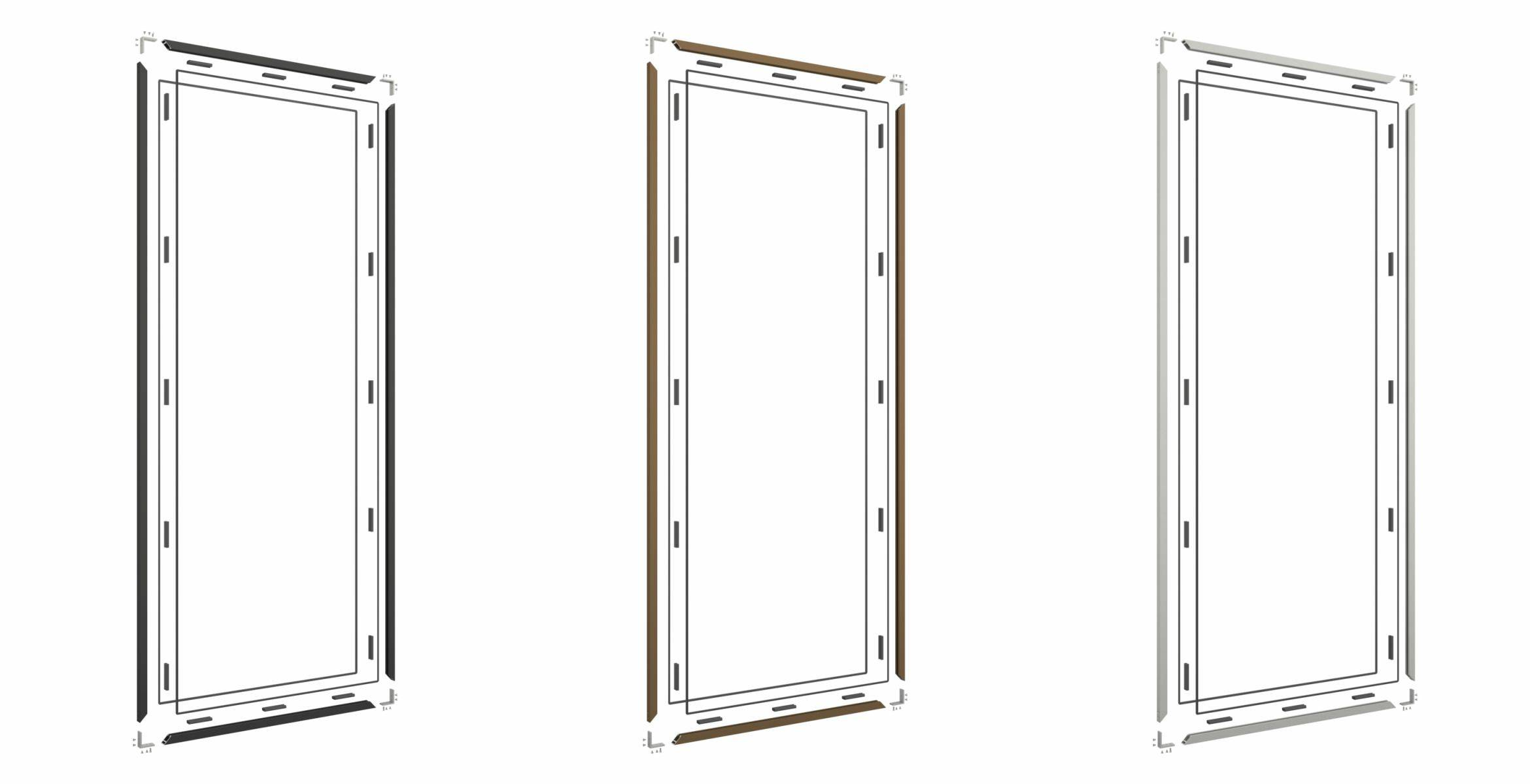 Portapivot 3030 self-assembly kit for glass partitions