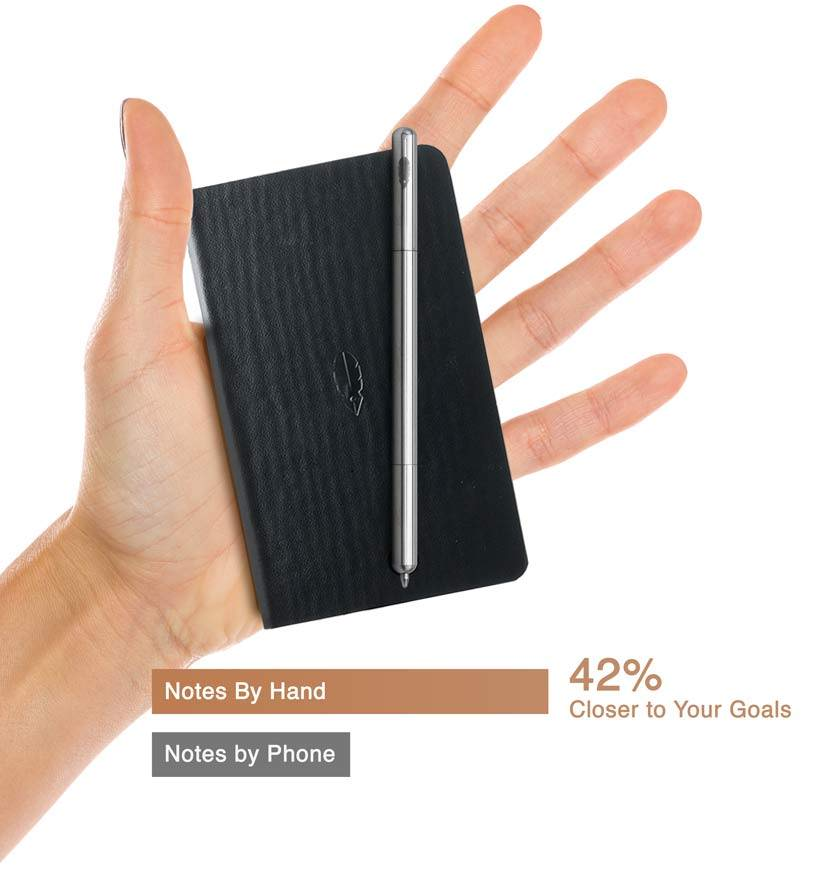 hand Portable pen and journal small and slim in one pocket