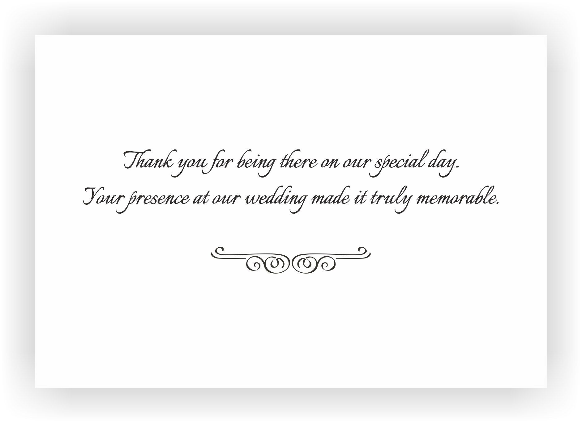 Thank You Note to accompany your wedding Return GiftCHOCOCRAFT