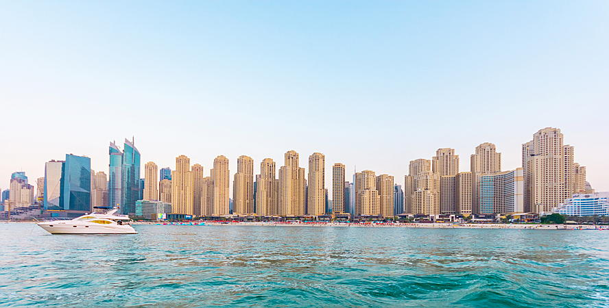 Dubai, United Arab Emirates - Jumeirah Beach Residence Skyline