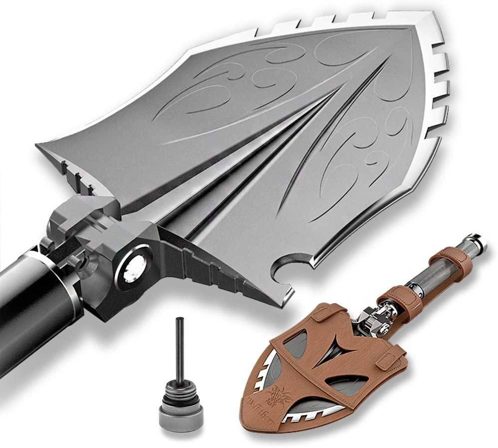 Zune Lotoo Wolf Thorn Hunter Survival Shovel, Camping Gear, Survival Shovel, Multi-Tool Shovel, Hunting Gear, Wolf Thorn Hunter