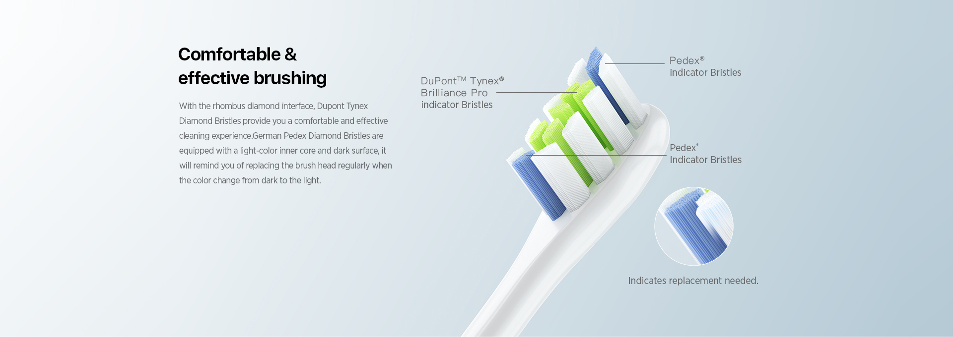 oclean whitening &cleaning toothbrush head