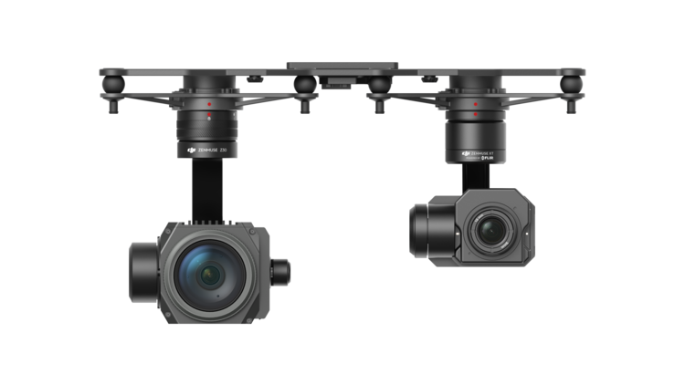 The Matrice 210 can support two cameras in the air