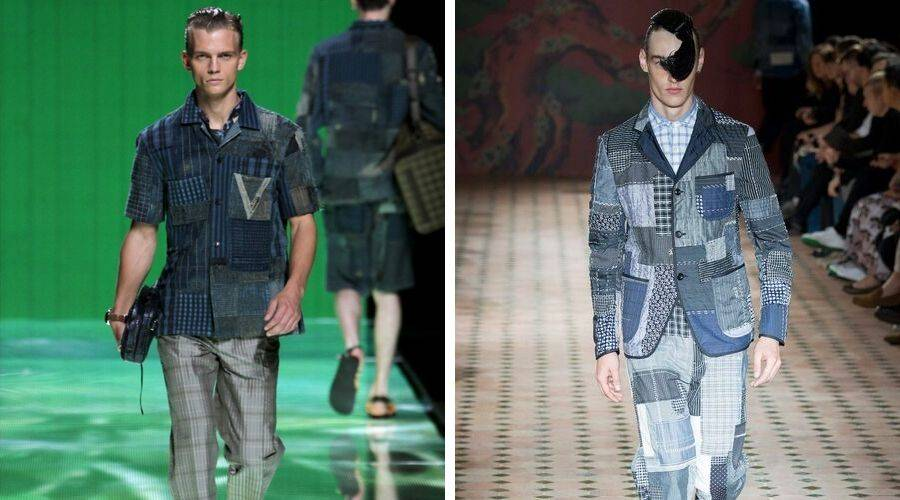 Louis Vuitton and Junya Watanabe boro clothing collection