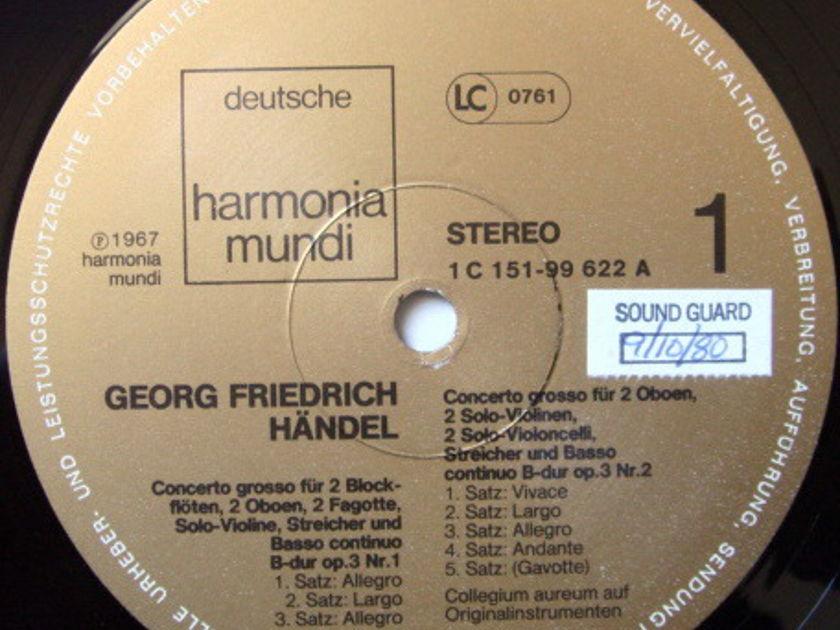 ★Audiophile★ Harmonia Mundi / COLLEGIUM AUREUM, - Handel Concerti Grossi Op.3, NM, 2LP Set!