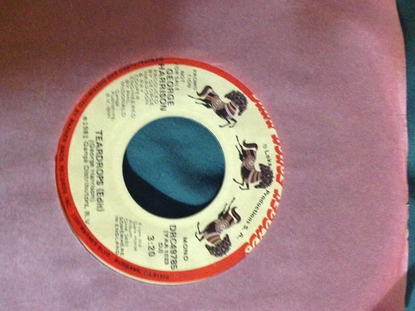 George Harrison - Teardrops(Edit) Promo 45 Mono Stereo Dark Horse Label