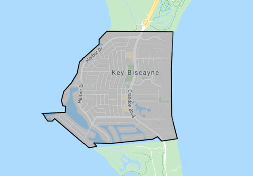skyview of Key Biscayne