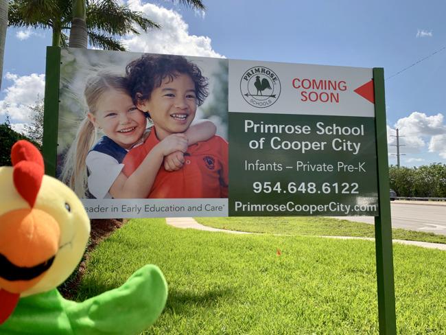 Primrose School of Cooper City Coming Soon Sign