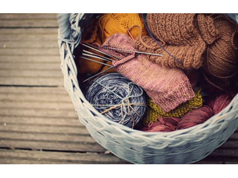 Learn-to-Knit Basket