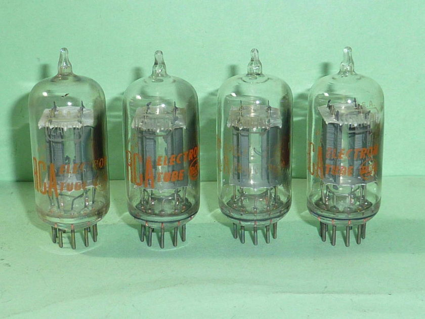 RCA 12AU7 12AU7A ECC82 Clear Top Tubes, Matched Quad, Tested