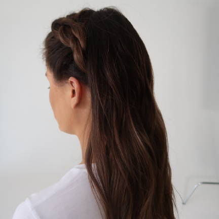 low bun Davines tutorial step 2