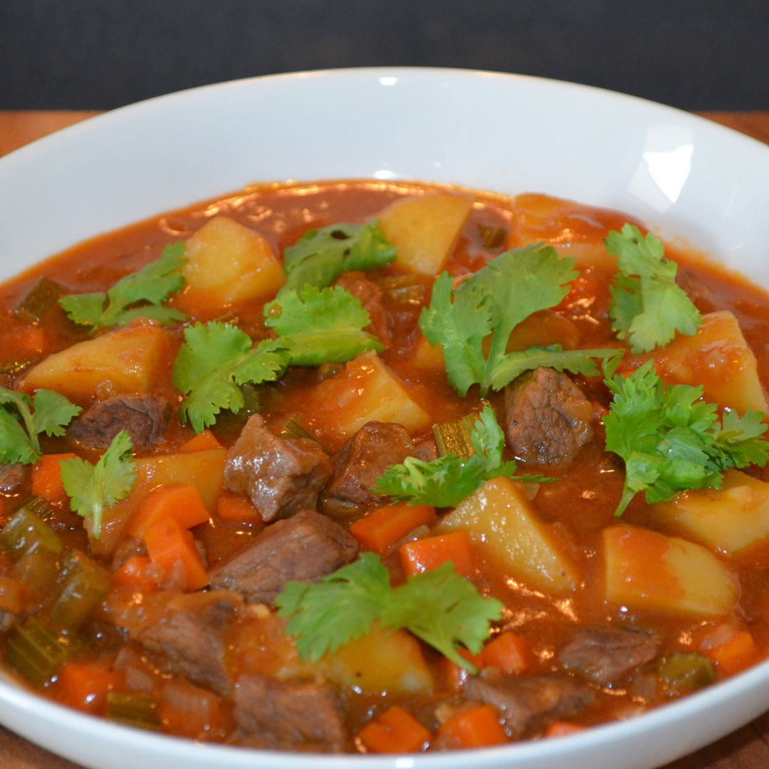 Date: 18 Mar 2020 (Wed) 86th Main: Irish Beef, Potato & Veggie Stew with Parsley [277] [157.4%] [Score: 9.0] Cuisine: Irish Dish Type: Main The Irish really do produce comfort food like no other nation. Tuck into this hearty number and pour yourself a pint of Guinness if you dare – this is warming fare at its absolute best!