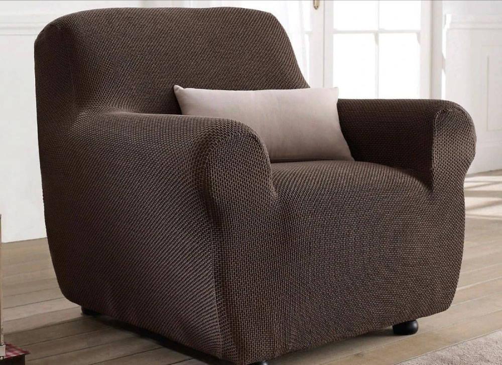 housse de fauteuil marron