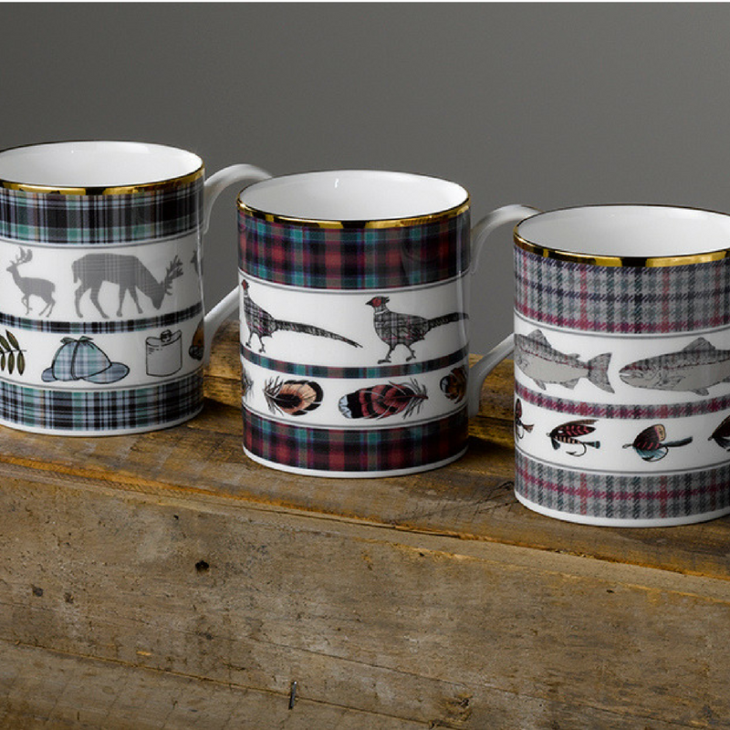 Country Pursuits fine bone china mugs