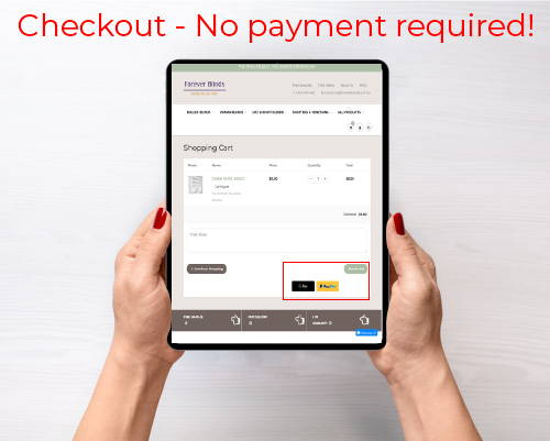 Secure Checkout - No payment required for free samples