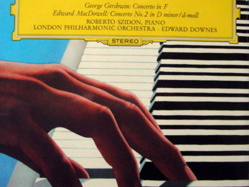★Sealed★ DGG / SZIDON-DOWNES,  - Gershwin Concerto in F, MacDowell Concerto No.2!