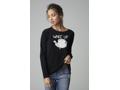"Lisa Todd Black Cashmere Sweater ""Wake Up,"" Women's Size Medium"